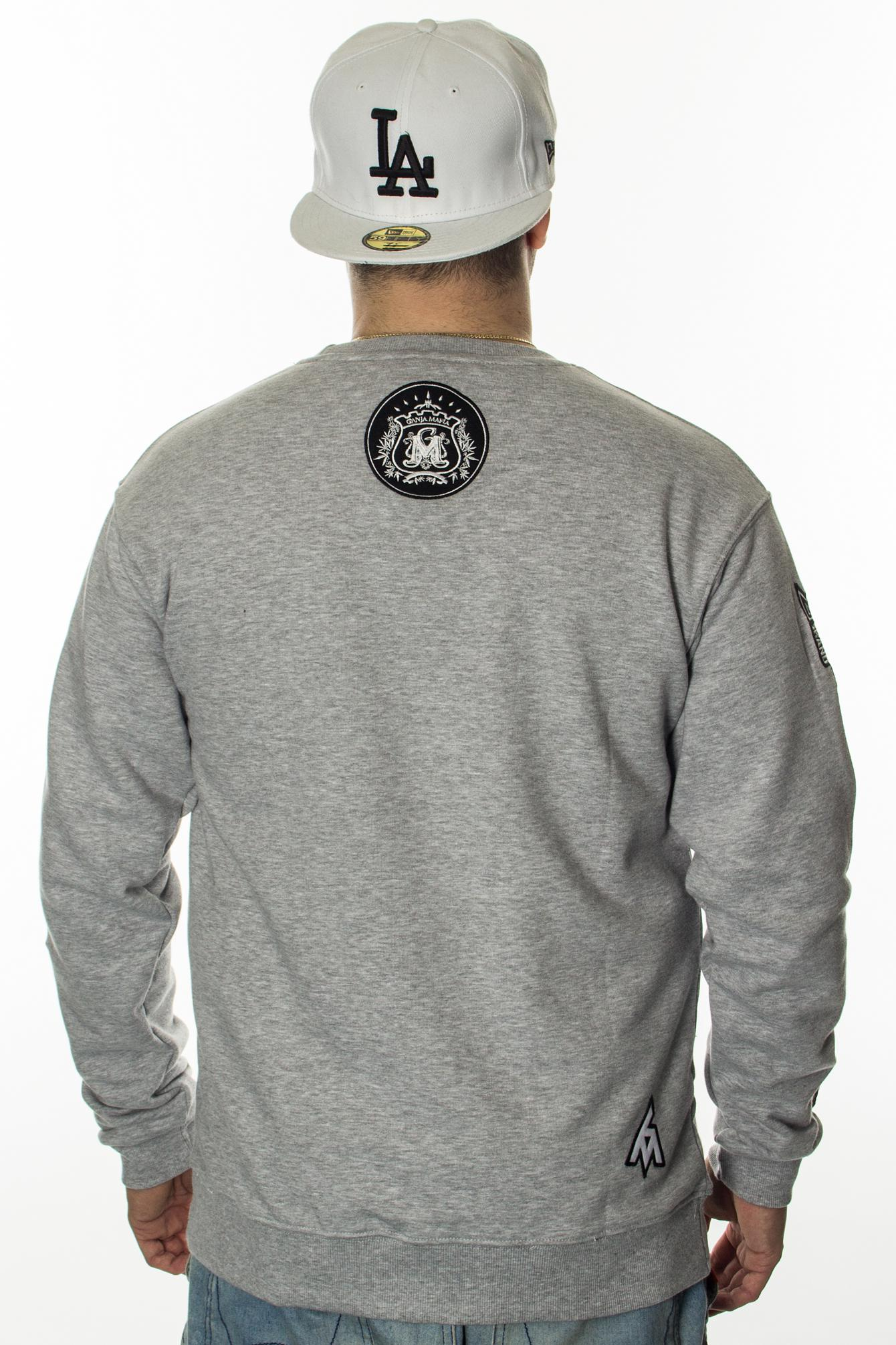 GANJA MAFIA BLUZA PATCH SIGNATURE GREY