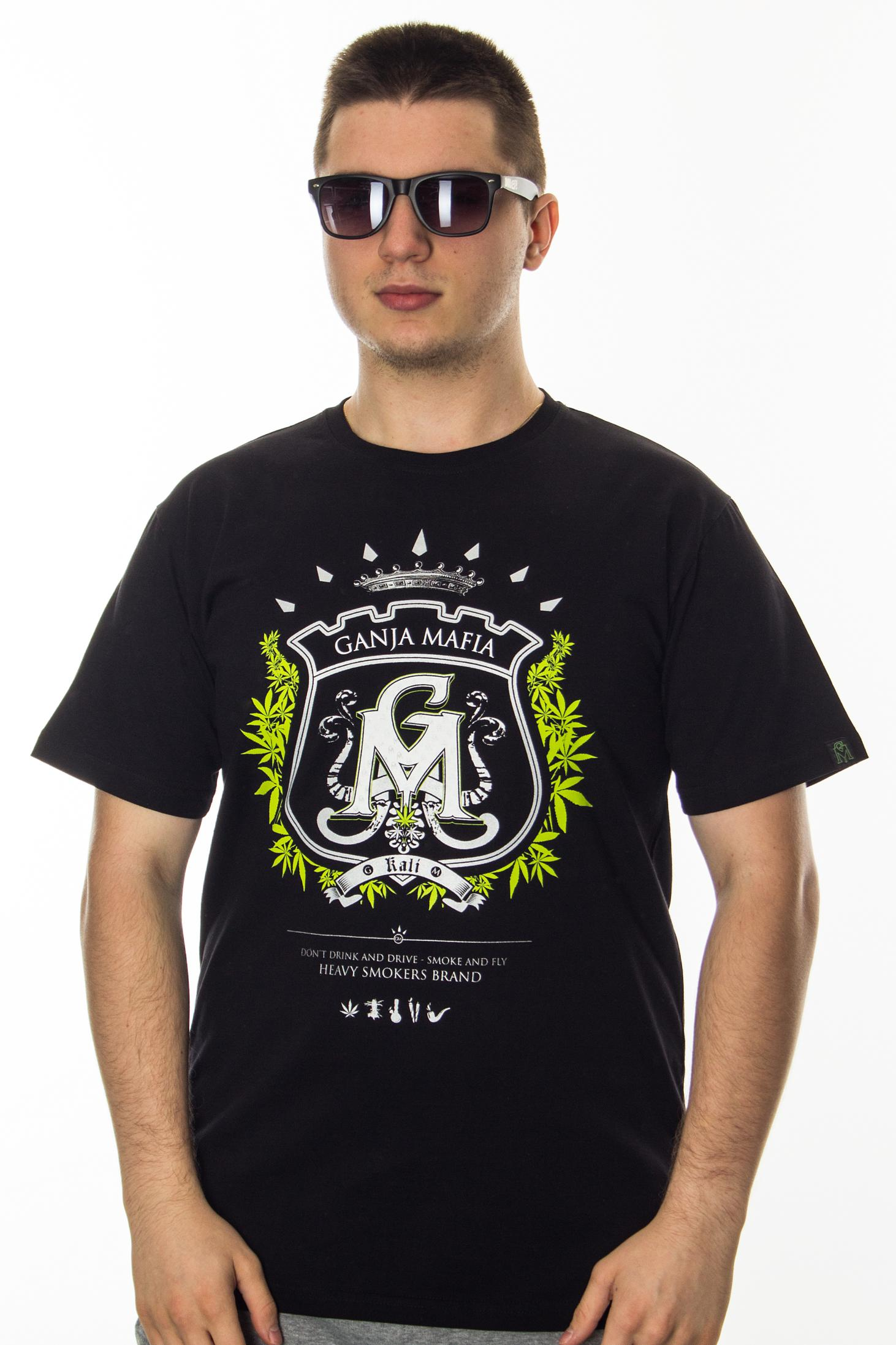 GANJA MAFIA T-SHIRT HERB BLACK