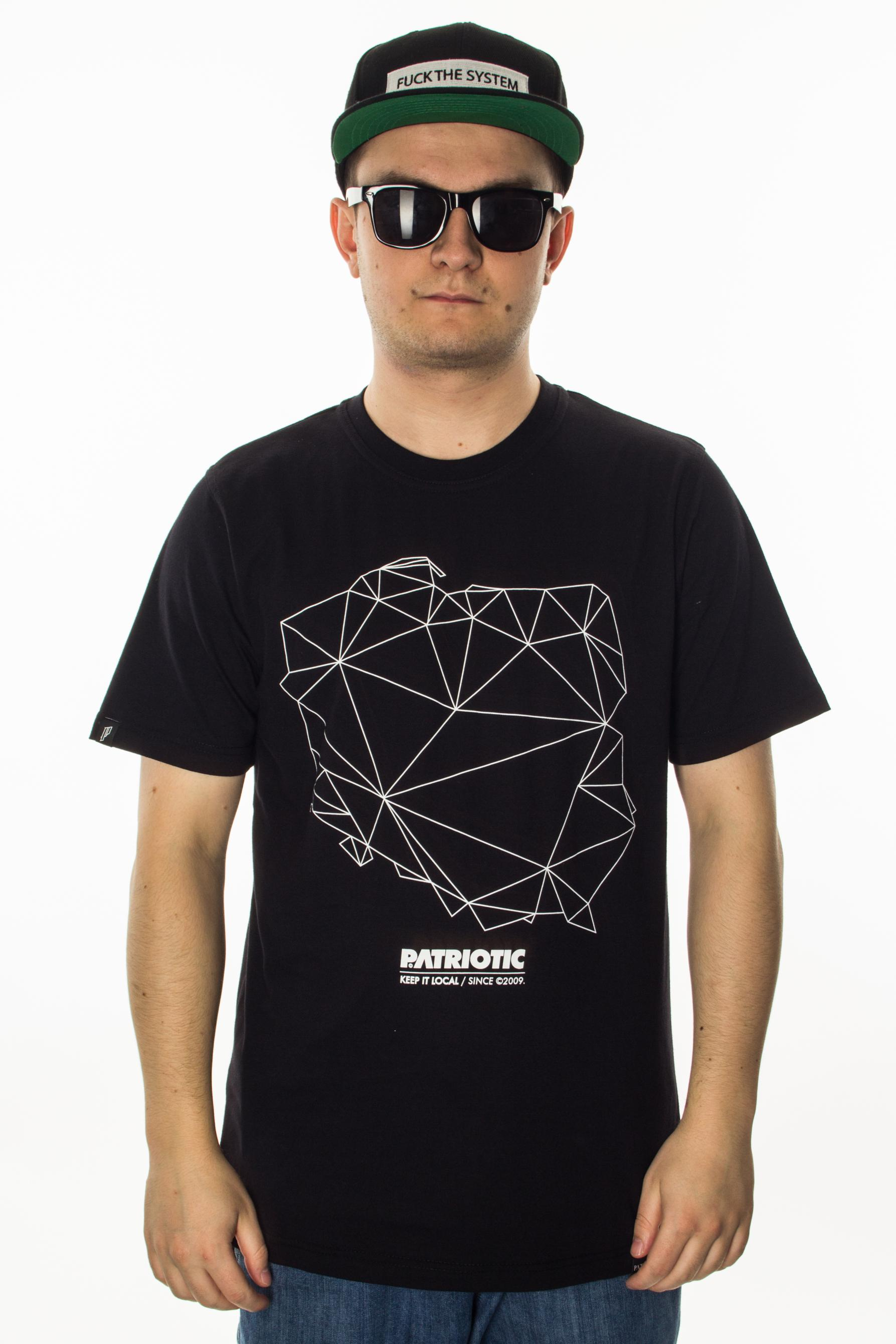 PATRIOTIC T-SHIRT MAPS BLACK