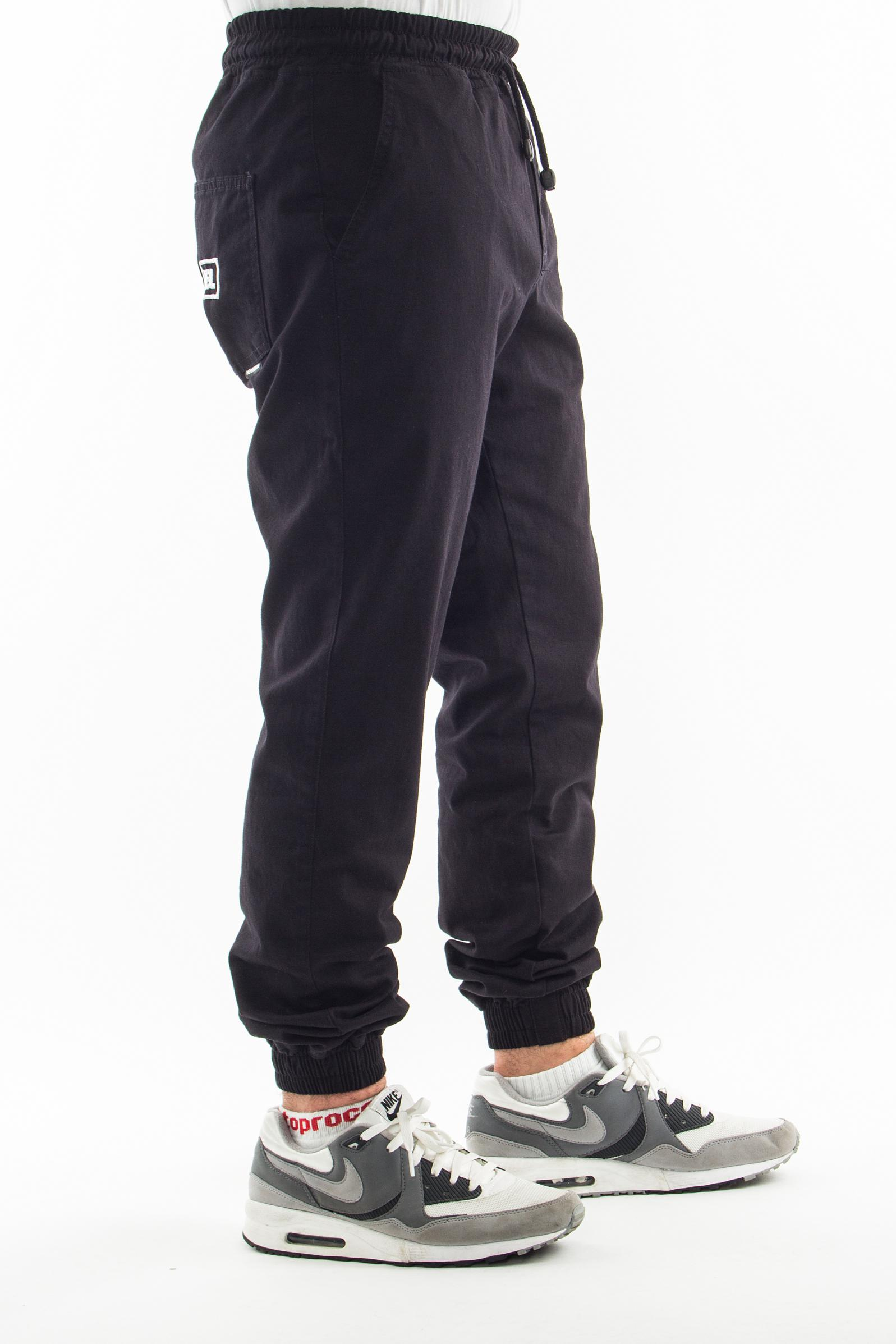 NEW BAD LINE SPODNIE CHINO JOGGER ICON BLACK