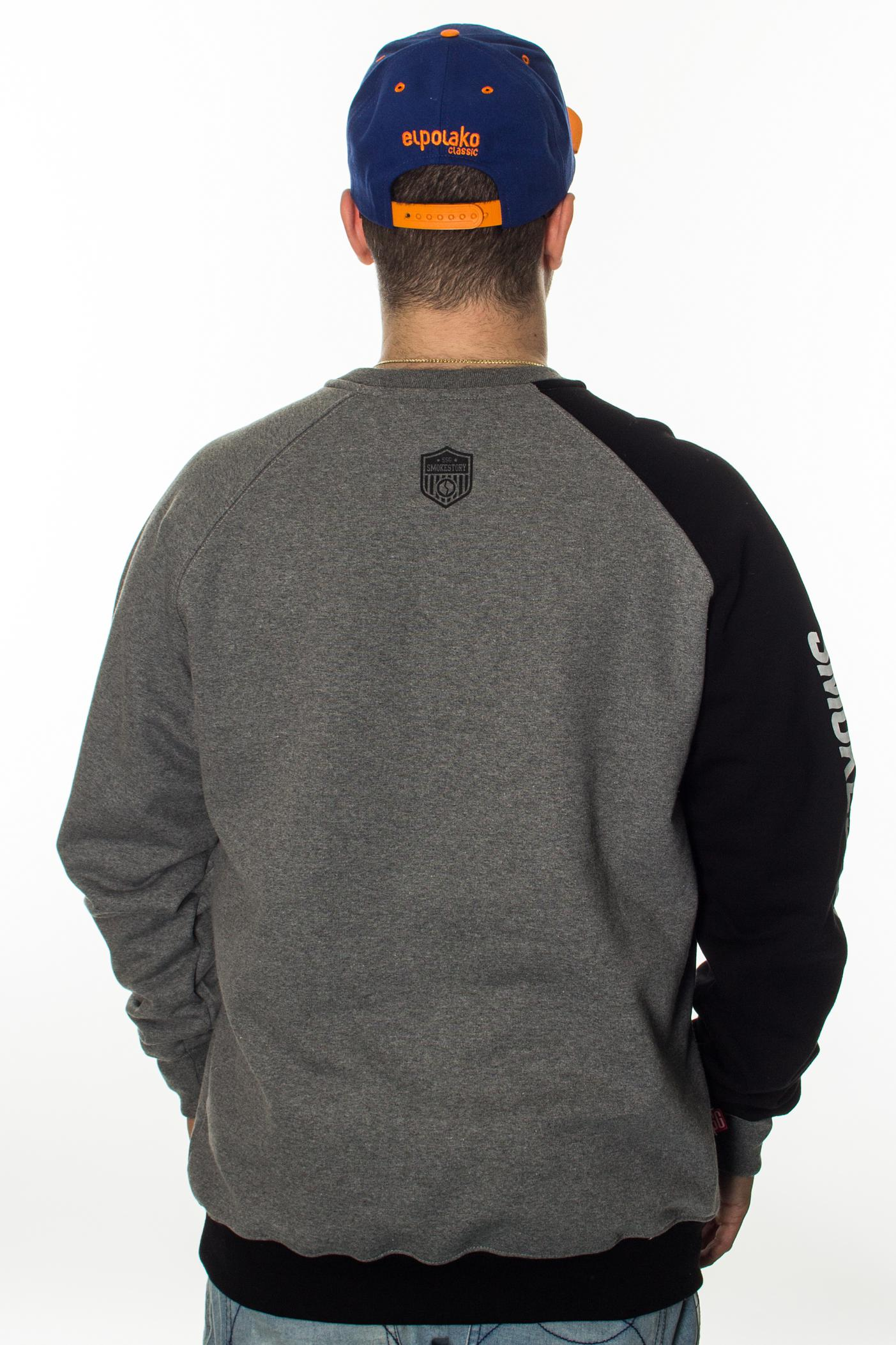 SMOKE STORY GROUP BLUZA SLEEVE REGLAN GREY