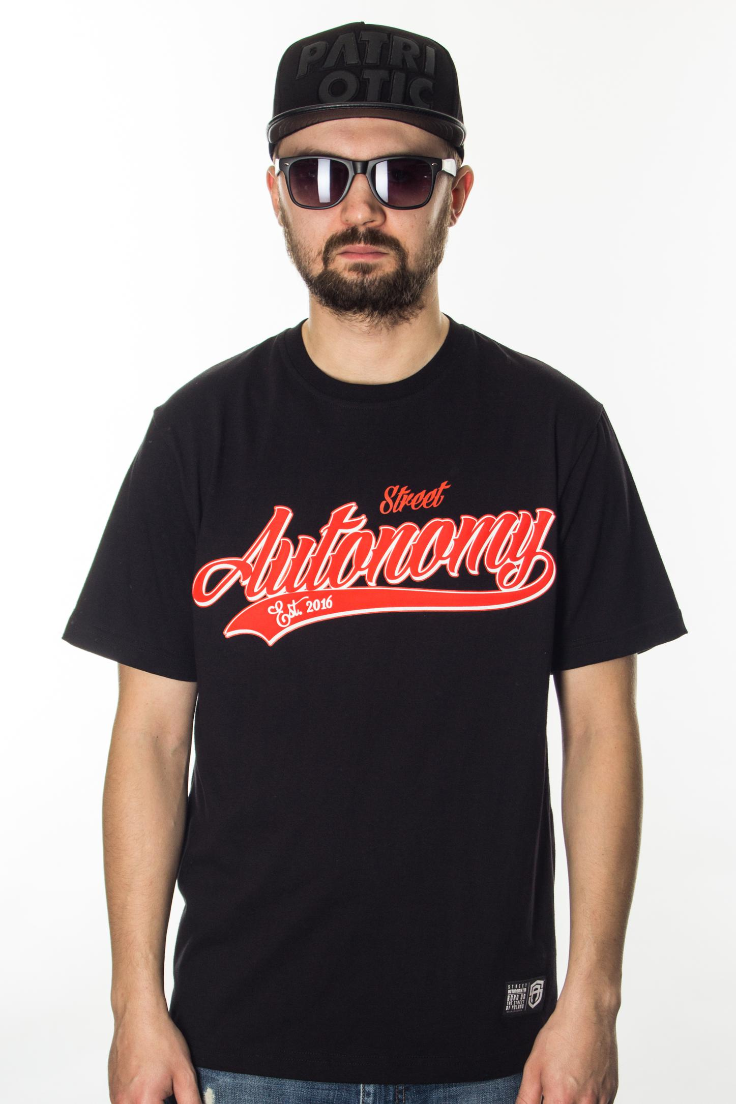 STREET AUTONOMY T-SHIRT BACK TEAM BLACK