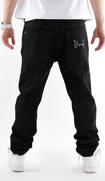 STOPROCENT JEANSY SLIM REGULAR BLACK