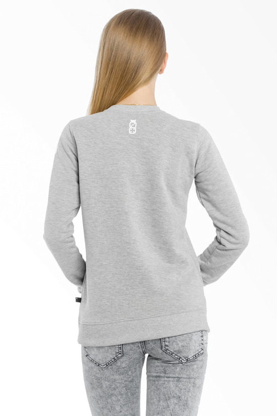 LUCKY DICE DAMSKA BLUZA LUCKY ON SLEEVE GIRL GREY