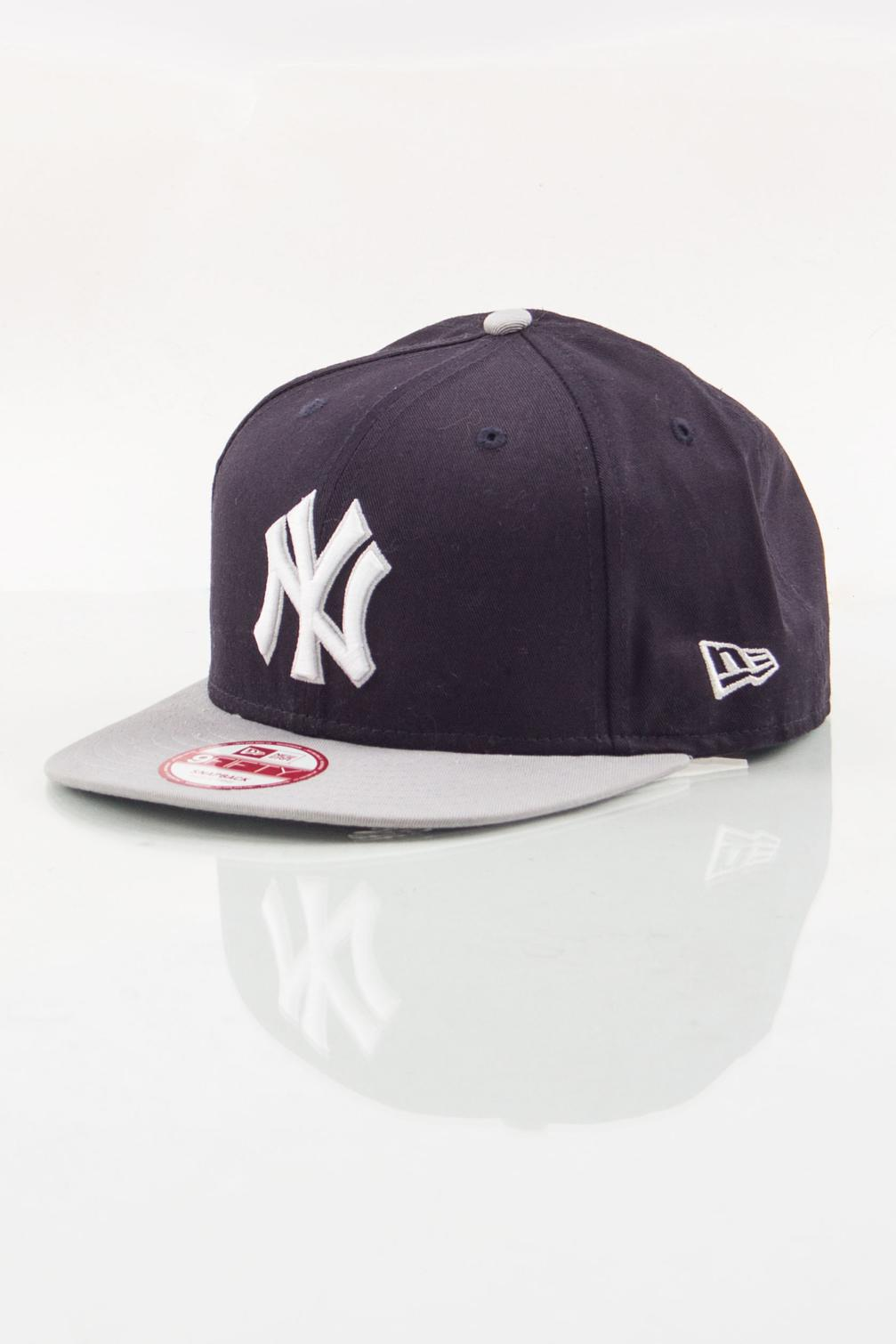 NEW ERA SNAPBACK NY BLACK-GREY