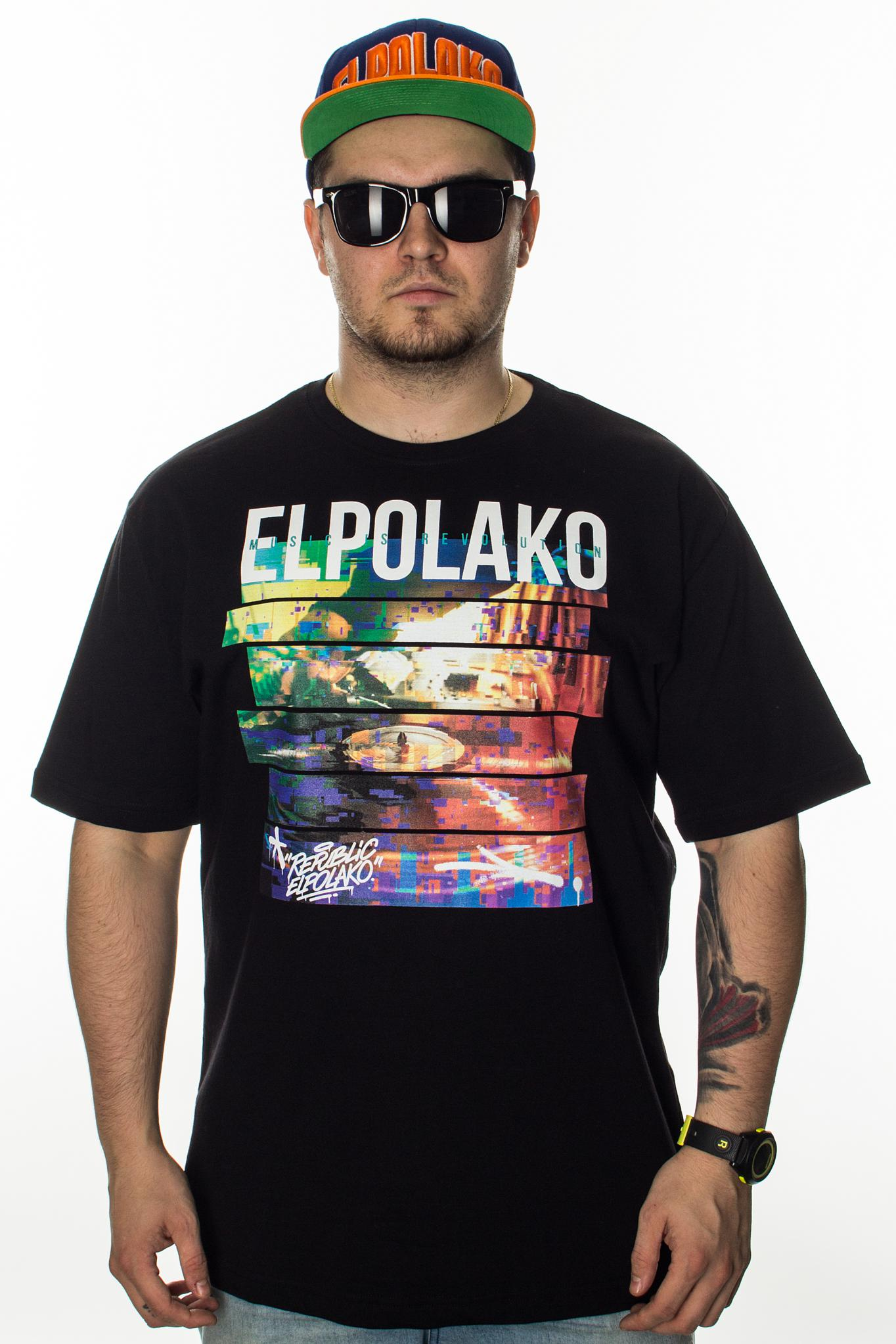 EL POLAKO T-SHIRT GRAMOFON BLACK