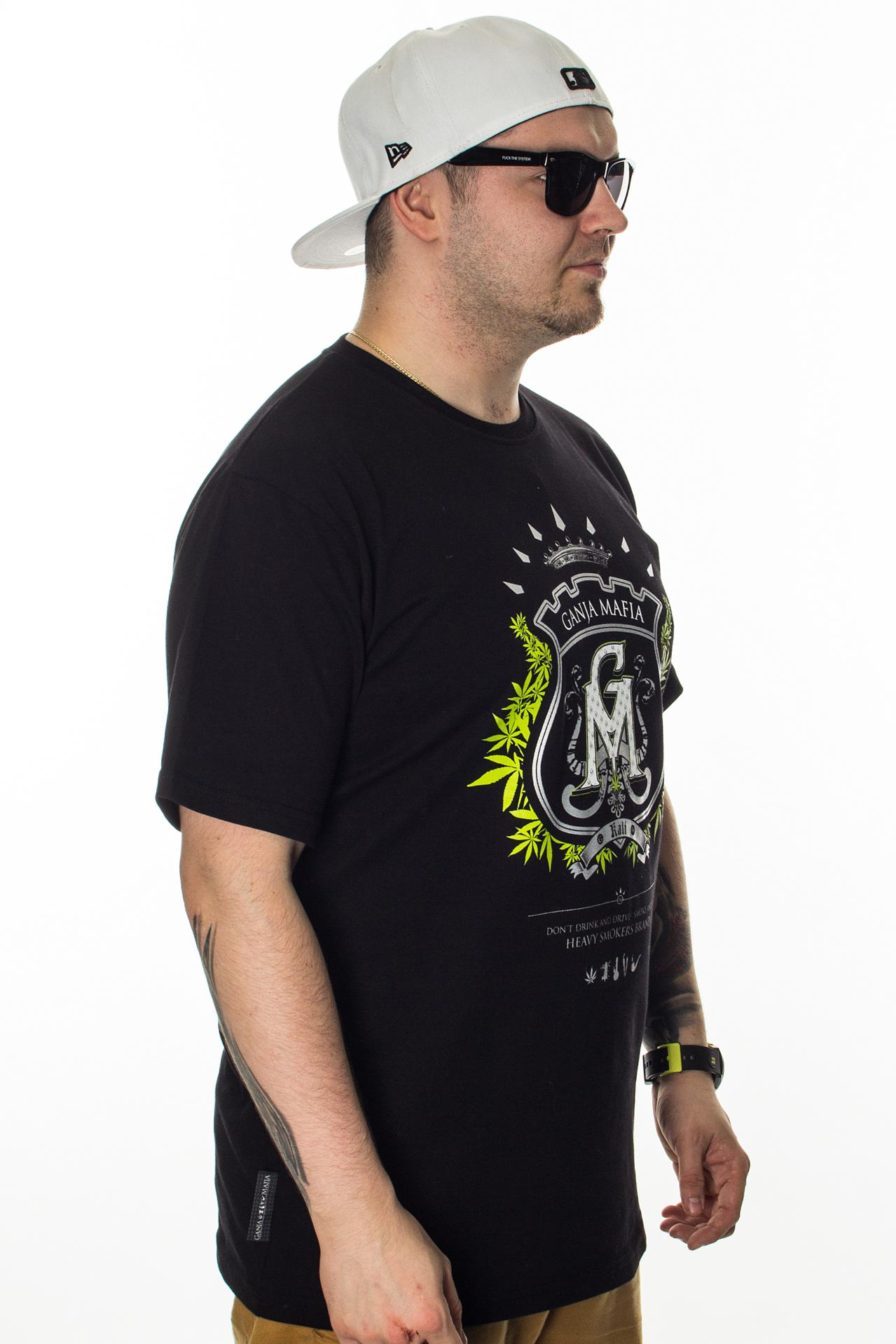 GANJA MAFIA T-SHIRT HERB BLACK-GREEN