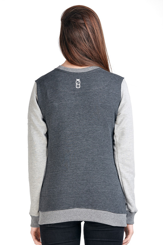 LUCKY DICE DAMSKA BLUZA CREWNECK LxD GIRL GREY