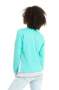 LUCKY DICE BLUZA DOT CUT GIRL MINT