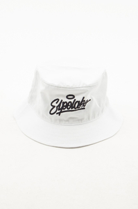 EL POLAKO KAPELUSZ BUCKET HAT HANDWRITTEN WHITE