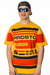 PROSTO T-SHIRT YACHT STRIPES YELLOW