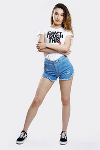 STOPROCENT T-SHIRT DAMSKI TDS TOUCH WHITE