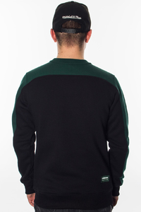 NEW BAD LINE BLUZA BEZ KAPTURA POCKET BLACK-GREEN