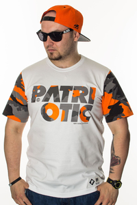 PATRIOTIC T-SHIRT CLS CAMO WHITE-ORANGE CAMO
