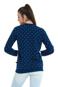 LUCKY DICE BLUZA DOT CUT GIRL NAVY