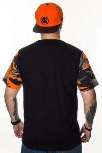 PATRIOTIC T-SHIRT CLS CAMO BLACK-ORANGE CAMO