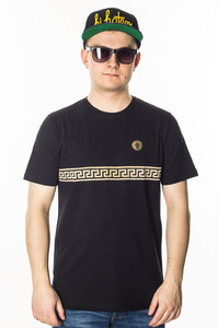 GANJA MAFIA T-SHIRT KALION TAPE BLACK/GOLD