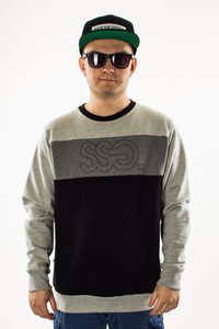 SMOKE STORY GROUP BLUZA TRIPLE OUTLINE GREY/BLACK