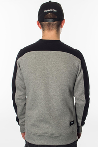 NEW BAD LINE BLUZA BEZ KAPTURA POCKET GREY-BLACK