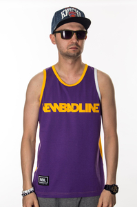 NEW BAD LINE TANK TOP CLASSIC VIOLET YELLOW