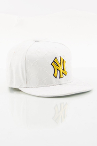 NEW ERA FULLCAP NY WHITE-YELLOW