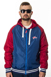 MORO KURTKA FULLZIP WINDBREAKER BLUE-RED