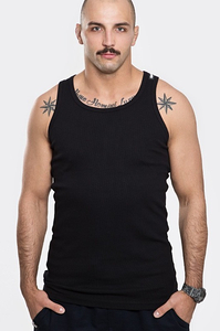 STOPROCENT TANKTOP TMT RIBB LONG SIMPLE BLACK