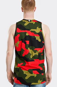 STOPROCENT TANKTOP TMT CAMU RED