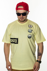 PROSTO T-SHIRT PATCHES ACID YELLOW