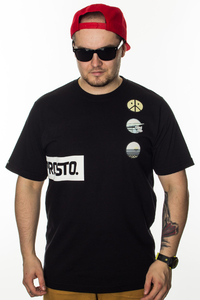 PROSTO T-SHIRT PATCHES ACID BLACK
