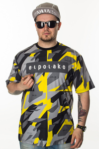 EL POLAKO T-SHIRT PREMIUM TRIANGLE MORO YELLOW