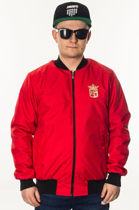 BOR KURTKA BOMBER NEW HERB RED