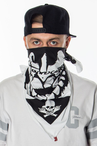 STOPROCENT X HAZESHOP LIMITED BANDANA SKULL WHITE BLACK