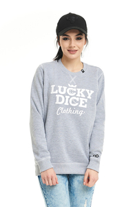 LUCKY DICE BLUZA BLUZA SIMPLE DICE RND GIRL GREY