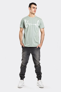 STOPROCENT T-SHIRT TMS BASE TAG GREY GREEN
