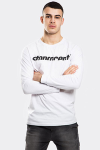STOPROCENT LONGSLEEVE SIMPLECUT WHITE