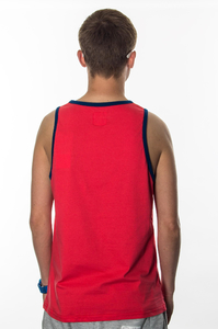 PROSTO ST TANKTOP LOOSE RUBY RED