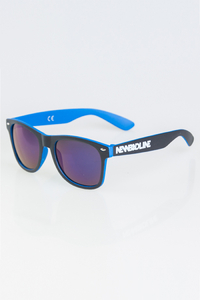 NEW BAD LINE OKULARY CLASSIC INSIDE BLACK-BLUE MAT BLUE MIRROR 1265