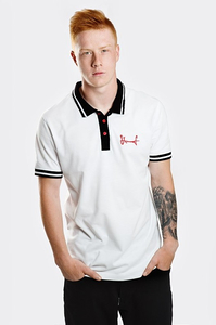 STOPROCENT POLO TAG18 WHITE-BLACK