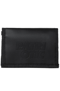 PATRIOTIC PORTFEL CLS LEATHER RZEP BLACK