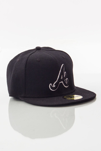 NEW ERA FULLCAP ATLANTA BRAVES BLACK