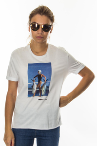 PROSTO T-SHIRT DAMSKI JDL TWO FISH WHITE