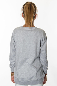 EP.GIRLS BLUZA LODZIK GREY