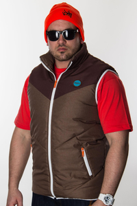 PROSTO VEST ODDS BROWN