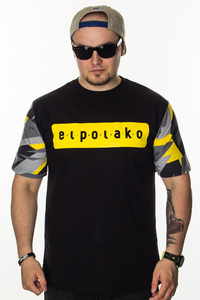 EL POLAKO T-SHIRT SLEEVE TRIANGLE MORO YELLOW