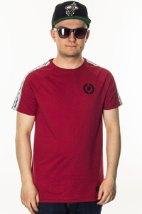 PATRIOTIC T-SHIRT LAUR TAPE BORDO