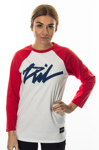 LADY DIIL LONGSLEEVE TAG WHITE-RED