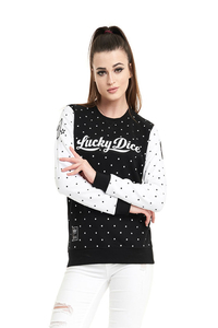 LUCKY DICE BLUZA DAMSKA DOT BABE BLACK
