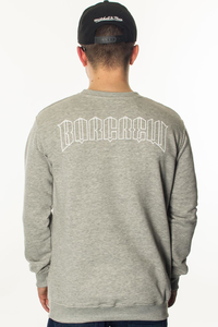 BOR BLUZA BEZ KAPTURA B LOGO LIGHT GREY