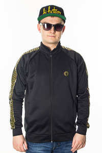 GANJA MAFIA BLUZA FULL ZIP KALION TAPE BLACK/GOLD